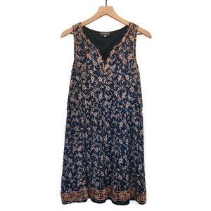 Market & Spruce Auria Navy Paisley Print Dress